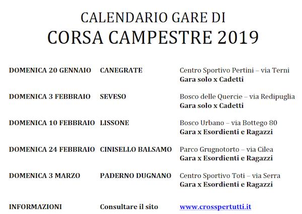 Calendario Sportivo.Scuola Sportiva Atletica It